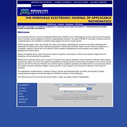 Morehead State University - The Morehead Electronic Journal of Applicable Mathematics