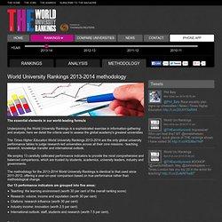 World University Rankings 2013-2014 methodology - Times Higher Education