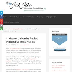 Clickbank University Review Millionaires in the Making