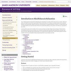 James Madison University - Intro to Mindfulness & Relaxation
