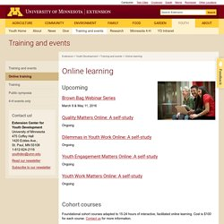Online learning: University of Minnesota Extension