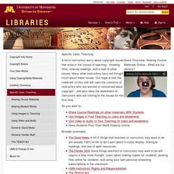 Copyright technology: Academic perspectives University of Minnesota Libraries