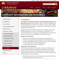 Copyright technology: The TEACH Act