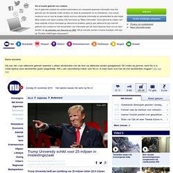 Trump University schikt voor 25 miljoen in misleidingszaak