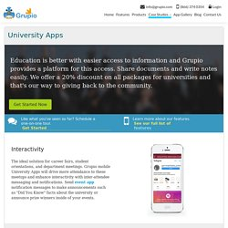 Best Apps for University - Mobile Apps for College Events