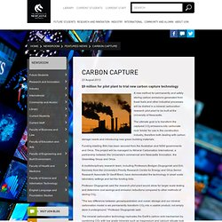 Carbon Capture / Featured news / Newsroom