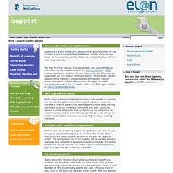 creating elearning - EL@N - University of Nottingham
