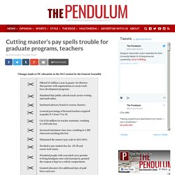 Cutting master's pay spells trouble for graduate programs, teachers - Elon University's News Organization