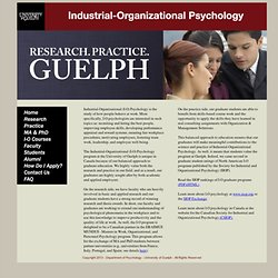 Organizational Psychology subjects to interest you in college