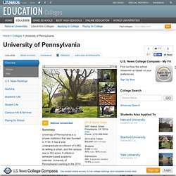 University of Pennsylvania - Best College - Education - US News