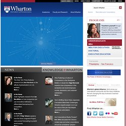 The Wharton School of the University of Pennsylvania