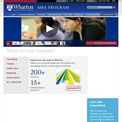 The Wharton MBA Program | The Wharton School of the University of Pennsylvania