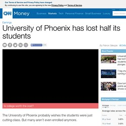 University of Phoenix has lost half its students. Stock plunges 28% - Mar. 25, 2015