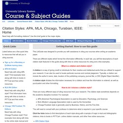 Home - Citation Styles: APA, MLA, Chicago, Turabian, IEEE - LibGuides at University of Pittsburgh