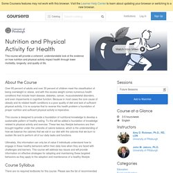 Nutrition and Physical Activity for Health - University of Pittsburgh