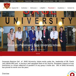 Sage University Placement - Sage University Indore