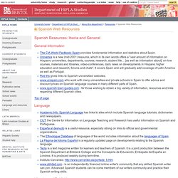 Bristol University - Hispanic, Portuguese & Latin American Studies - Spanish Web Resources