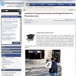 Austerity U: Preparing University and College Students for Precarious Lives
