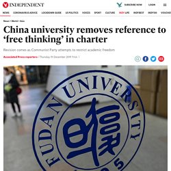 China university removes reference to 'free thinking' in charter