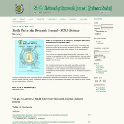 Sindh Univ. Res. Jour. (Sci. Ser.) Vol.45 (1): 53-58 (2013) Evaluation of Bacterial Contamination of Powdered Food Products, Pakistan