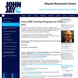 City University of New York Dispute Resolution Center