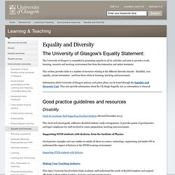 Learning & Teaching :: Equality and Diversity