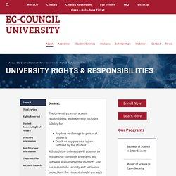University Rights & Responsibilities