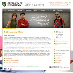 Students . College of Arts and Science . University of Saskatchewan
