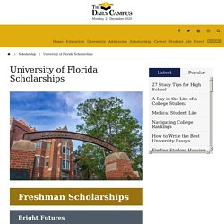 University of Florida Scholarships - The Daily Campus