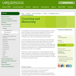 UWS - University of the West of Scotland - Coaching and Mentoring