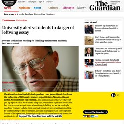 University alerts students to danger of leftwing essay