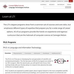 Carnegie Mellon University - Language Technologies Institute