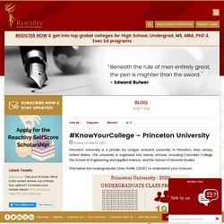 Princeton University - Undergraduate Class Profile 2020 - Blog