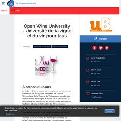 Open Wine University - Université de la vigne et du vin pour tous