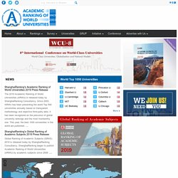 Academic Ranking of World Universities | ARWU | First World University Ranking | Shanghai Ranking