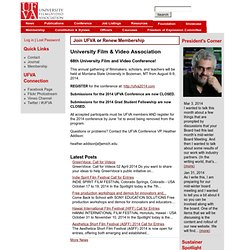 UFVA | University Film & Video Association