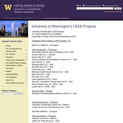 University of Washington's LEED Projects