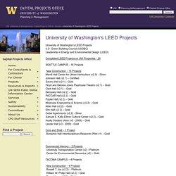 University of Washington's LEED Projects