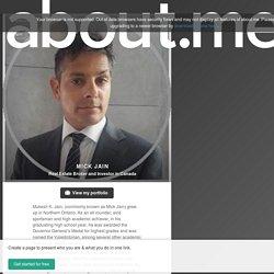 Mick Jain a Real Estate Broker and Investor in Canada