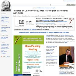Towards an OER university: Free learning for all students worldwide