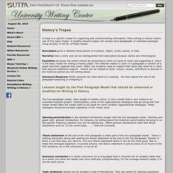 DAA - University Writing Center - History's Tropes