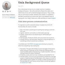 Unix Background Queue