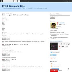 UNIX BASH scripting