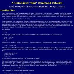 "Unix/Linux ""find"" Command Tutorial"