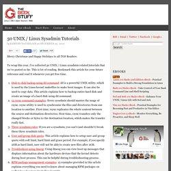 50 UNIX / Linux Sysadmin Tutorials