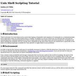 Unix Shell Scripting Tutorial