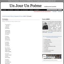 Tu t'ennuies… de Francis JAMMES dans 'De l'Angélus de l'aube à l'Angélus du soir' sur UnJourUnPoeme.fr : lectures, commentaires, recueils