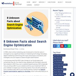8 Unknown Facts about Search Engine Optimization