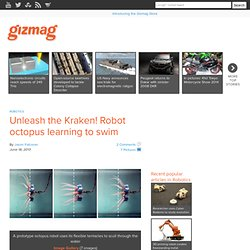 Unleash the Kraken! Robot octopus learning to swim