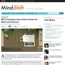 MIT Unleashes New Online Game for Math and Science